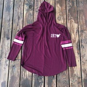 EUC Maroon hoodie